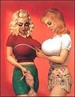 photo by F. Scruton/Andrea Rosen Gallery -John Currin's 'Bra Shop'
