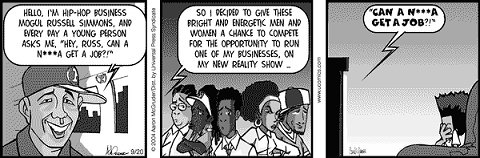 boondocks comic strip - copyright Aaron McGruder