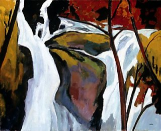 Waterfall by John Cole at Lisa Harris Gallery