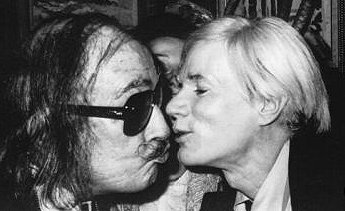 Salvador Dali and Andy Warhol