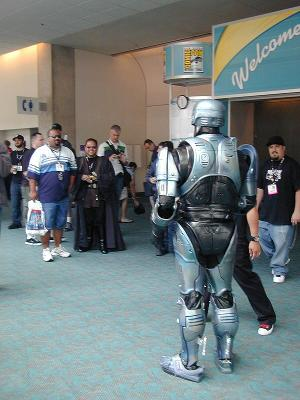 Robocop works the crowd