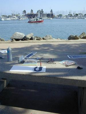 My San Diego Drawing Bench