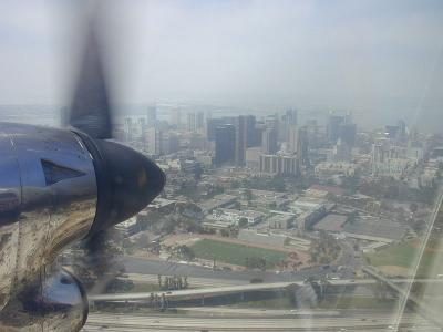 About to land in San Diego