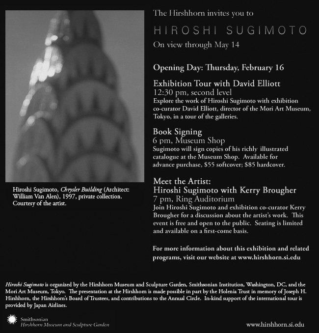 Sugimoto Opens at Hirshhorn
