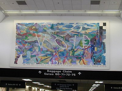 William Wiley painting in San Francisco Airport